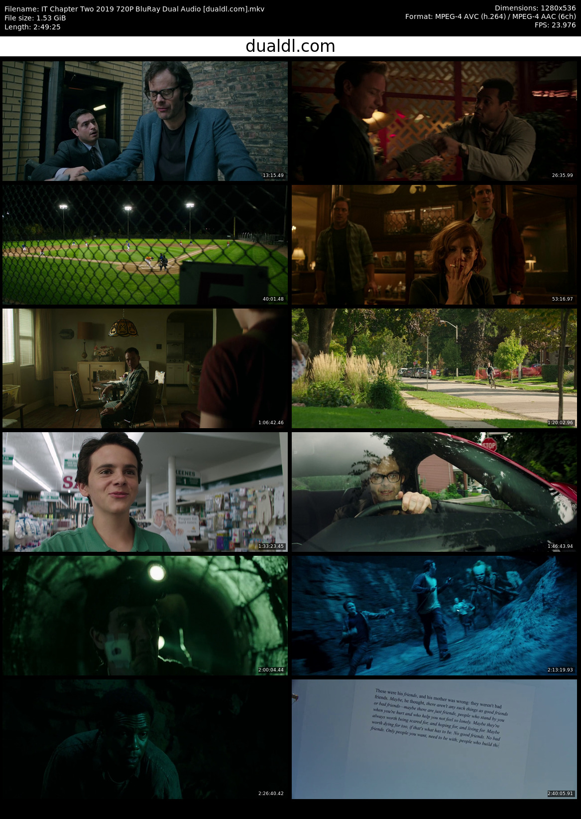 IT Chapter Two 2019 720P BluRay Dual Audio Download